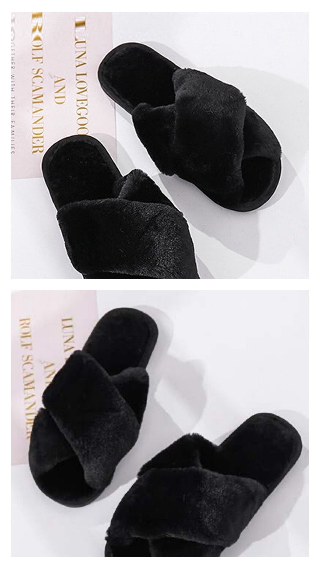 Lux Faux Fur slippers