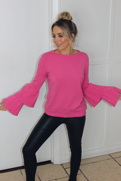 Pink Two Tier Sleeve Knit