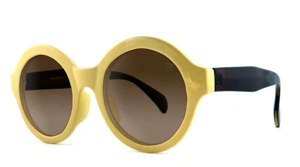 Ivory Retro Round Sunglasses