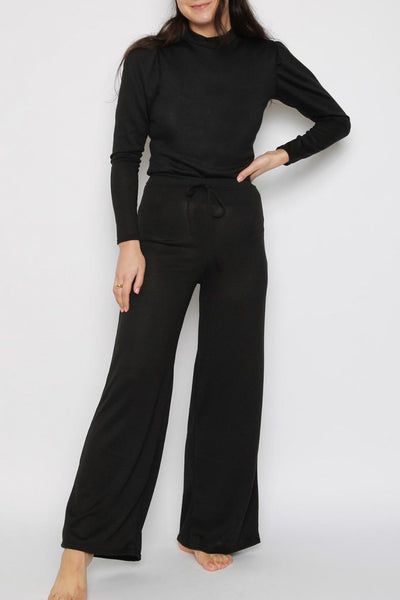 Black soft knit Co Ord