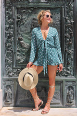 Green Polka Dot Playsuit
