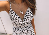 BACK IN STOCK Polka dot slip dress