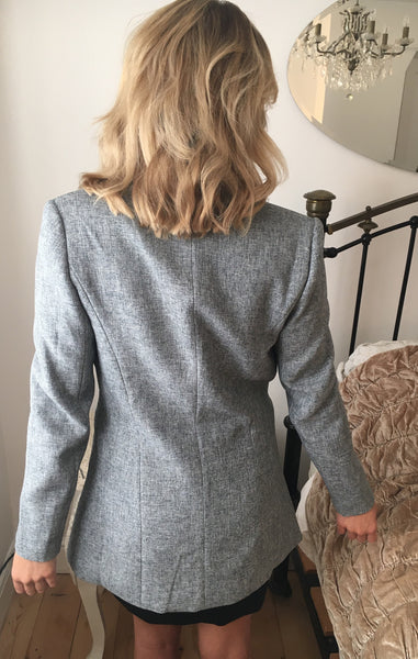 Grey Fitted Jacket