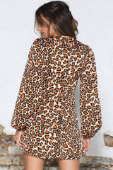 Orange leopard print mini