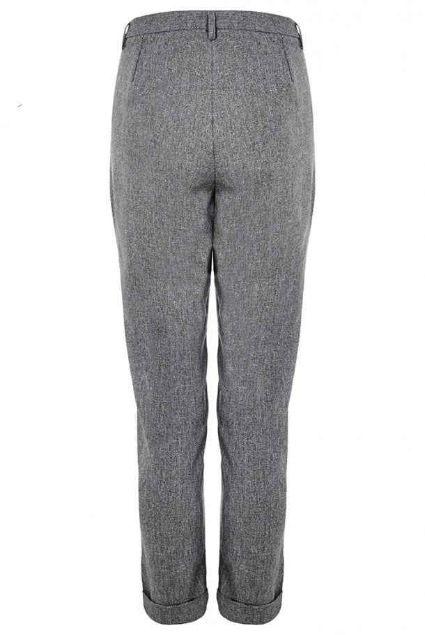 Grey Cropped Trousers