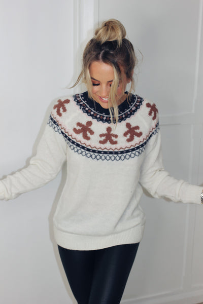 Gingerbread Fairisle Sweater