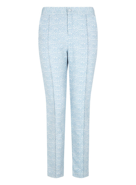Textured Blue Trousers
