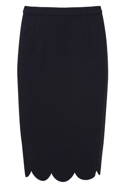 Scallop Hem Pencil Skirt