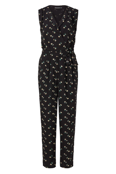 Floral Wrap Front Tailored Jumpsuit