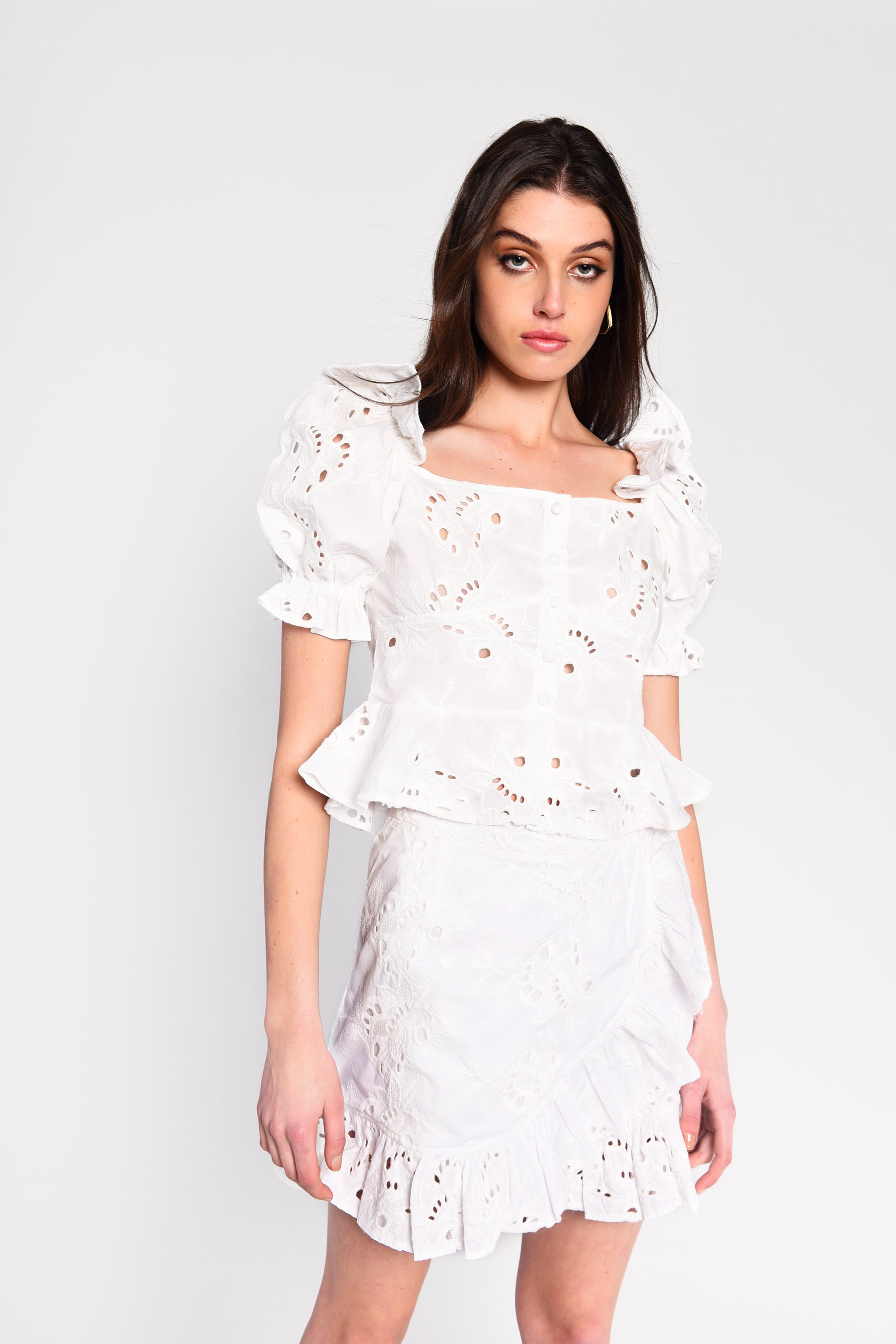 Lucia Broderie Anglais Top