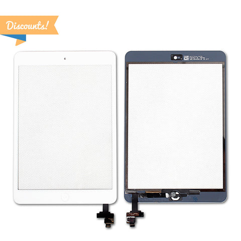 Discount - 5pcs - iPad Mini (1st & 2nd Gen) Front Panel Digitizer Assembly with IC