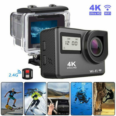 4K 2'' Ultra HD 1080P Sports WiFi Action Camera DV Video Recorder Remote Control - LL Trader