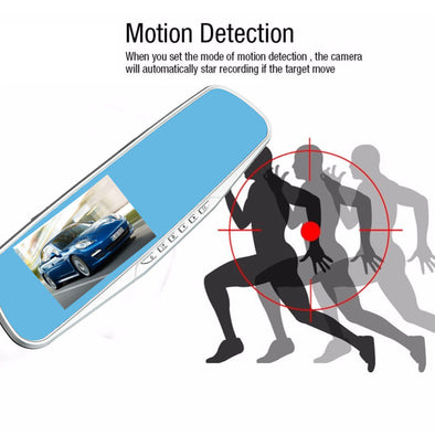 Car DVR 4.3'' HD 1080P Dual Lens Dash Cam Recorder Rearview Camera G-sensor - LL Trader