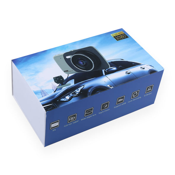 "1080P Dual Lens HD 4"" LCD Dash Camera Car Van DVR Recorder Night Vision Rear Cam - LL Trader"