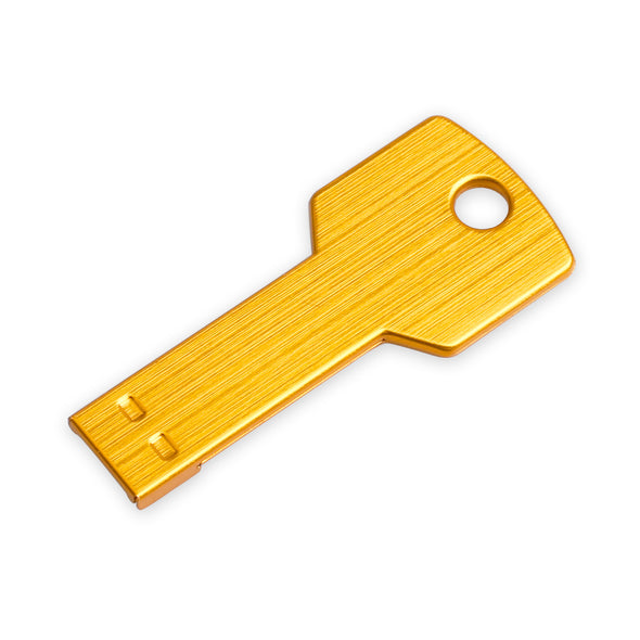 USB 2.0 Flash Drive Metal Key Shape Pen Drive Ultra Thin Flash - LL Trader