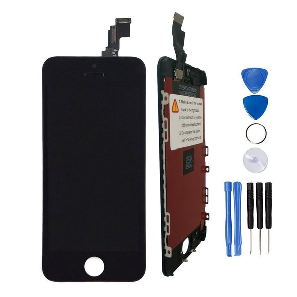 LL Trader® LCD Display Touch Screen Digitizer Glass Lens Assembly Repair Replacement for iPhone 5c Black + Tools UK Seller - LL Trader