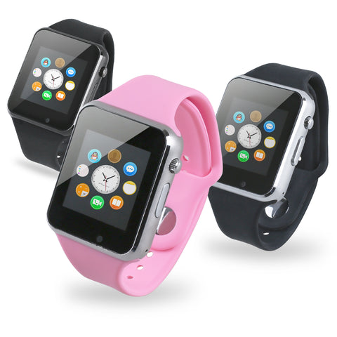 A1 Bluetooth Smart Watch Fitness SIM Card Slot Camera for Samsung Android iOS - LL Trader