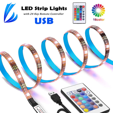 LED Strip Lights-USB Power(5V)-24 Key Remote Controller