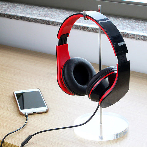Wired Foldable Adjustable Headphone Earphone with Mic