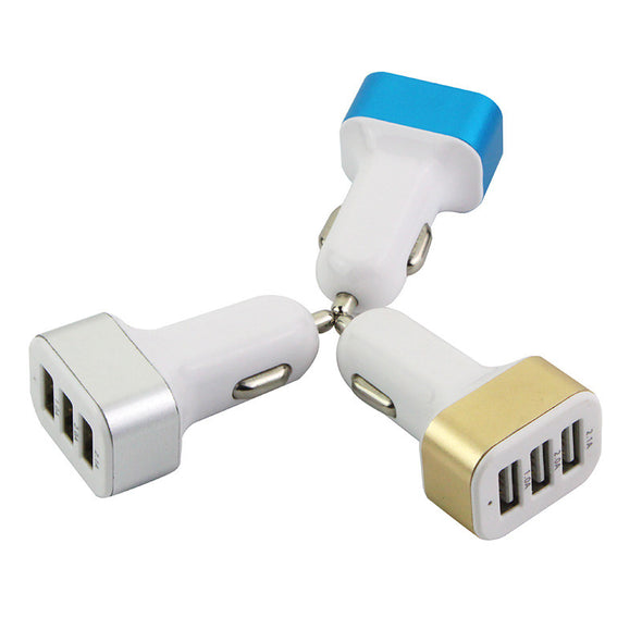 Universal 3 USB Port Car Charger - LL Trader