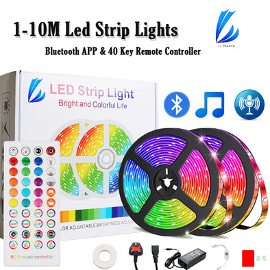LED Strip Lights-12V Power-40 Key Remote Controller