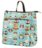 2 Piece Shoulder bag/Backpack-Green owl