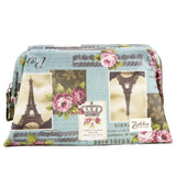 Wide Access Cosmetic Bag - Royal Roses