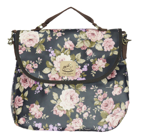 3 Way Bag - Roses - Black