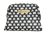 Wide Access Cosmetic Bag -Black Hippo