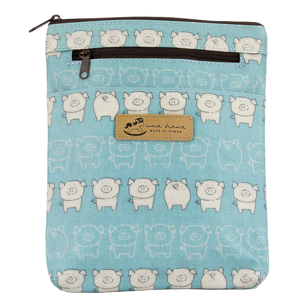 Crossbody/Waist Bag - Cute Piggy Blue
