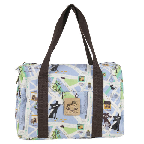 Duffle Bag - Cats in Paris - Blue