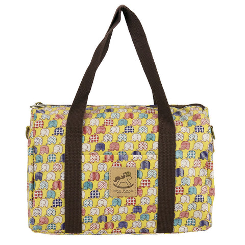 Duffle Bag - Mini Elephants - Yellow