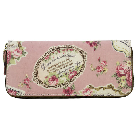 Long Zip-around Wallet - Roses Des Cosmetique