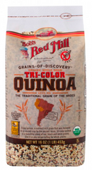 Bob's Red Mill Organic Whole Grain Tri-Color Quinoa, 16 oz (453g)