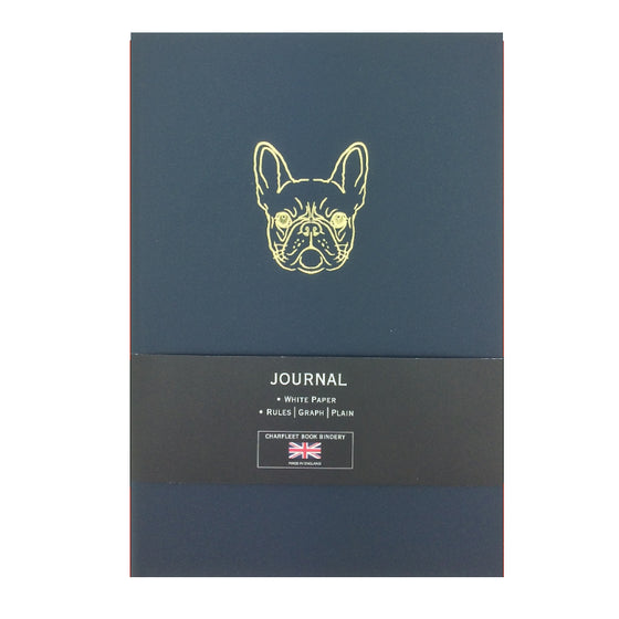 NB86FBD A5 FRENCH BULLDOG METALLIC NOTEBOOKS