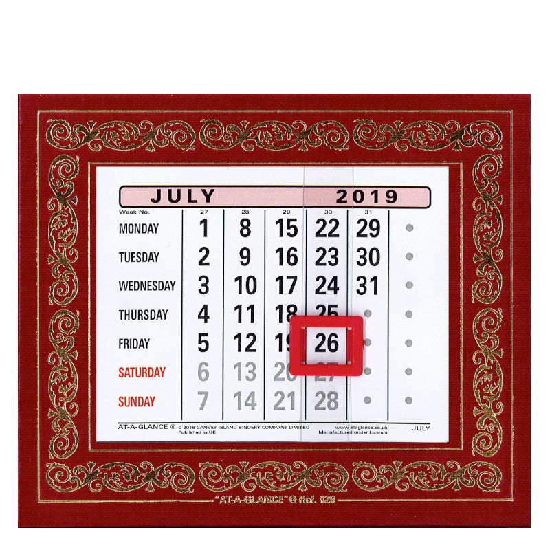 825 MONTHLY LEATHERETTE DESK CALENDAR