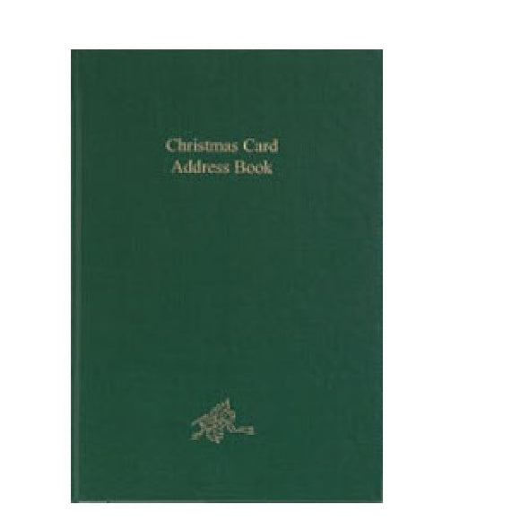 CC86B -CHRISTMAS CARD ADDRESS BOOK