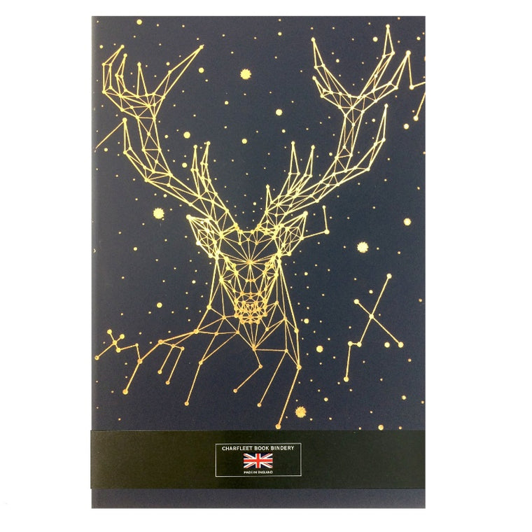 A5 STAG NOTEBOOKS -  (NB86STG-GOLD )