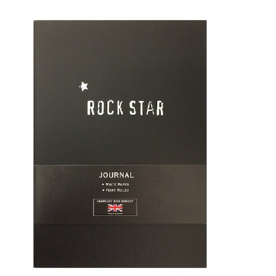 A5 ROCK STAR LINEN NOTEBOOK - NB86RS -BLK