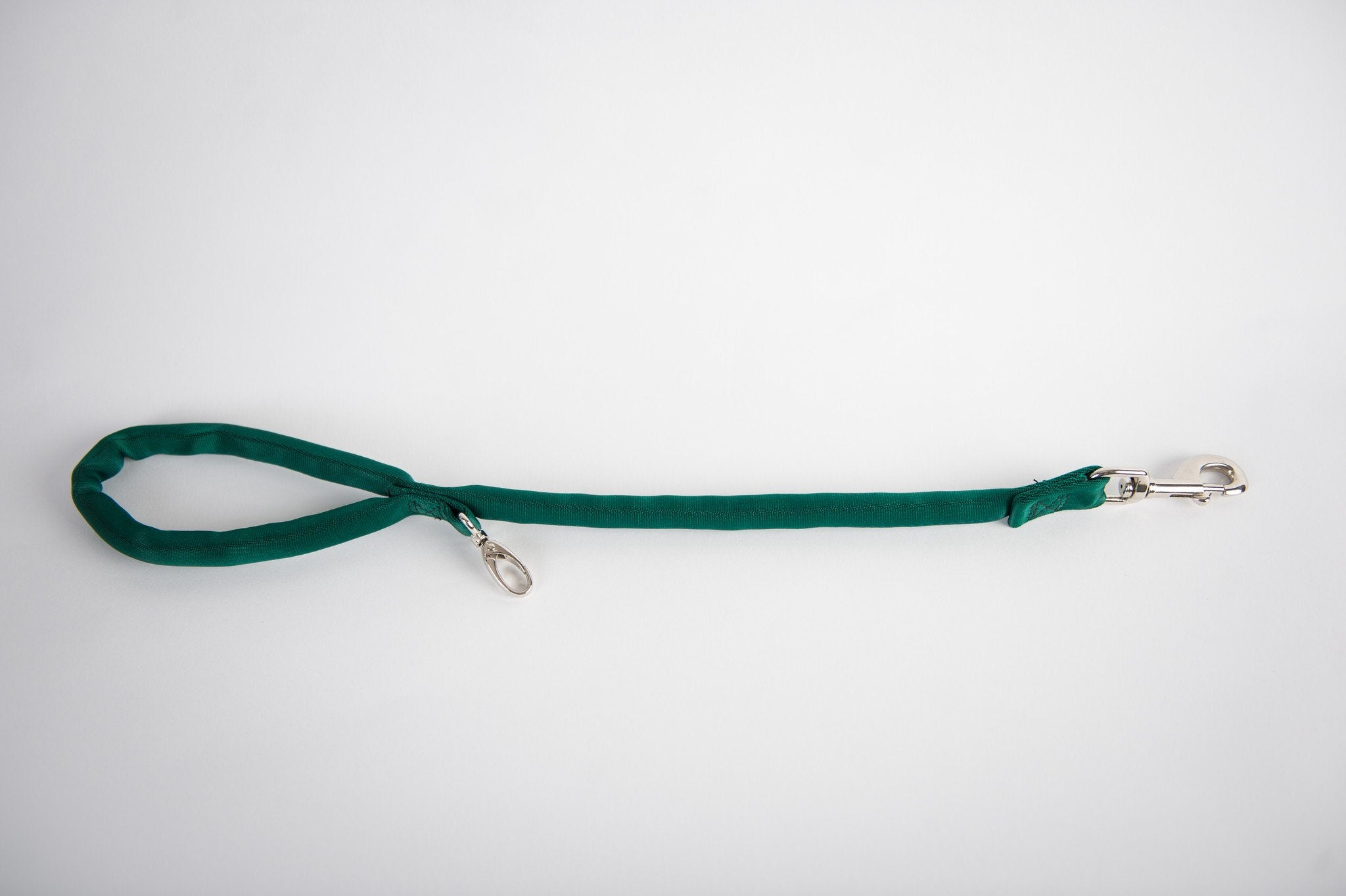 Hunter Green-Luv My Leash, 2-6 Foot option ,Lightweight, Padded,Dual Snap, 5 Leashes in 1 ,Made in U.S.A.