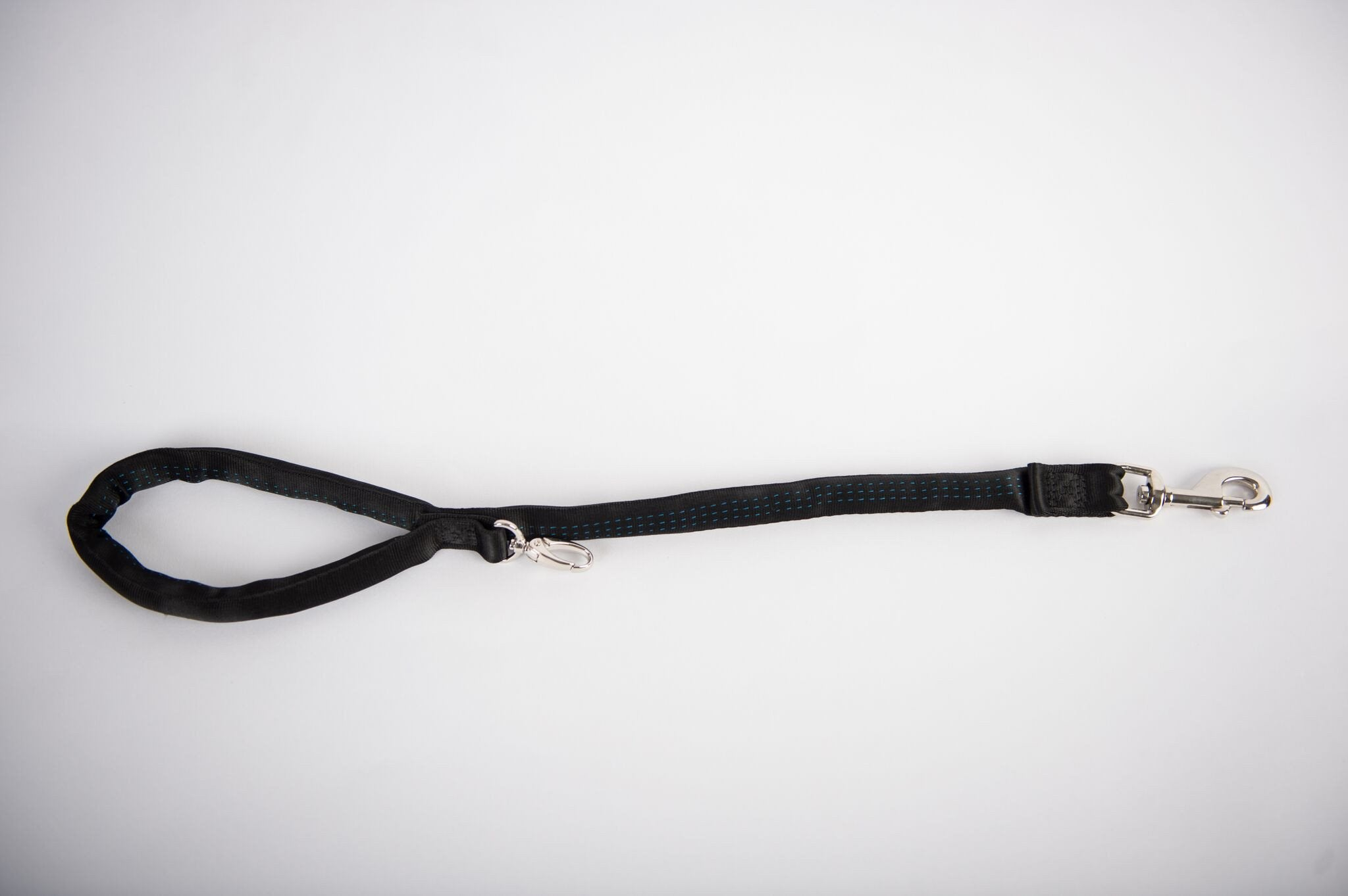 Black-Luv My Leash, 2-6 Foot option ,Lightweight, Padded,Dual Snap, 5 Leashes in 1 ,Made in U.S.A.