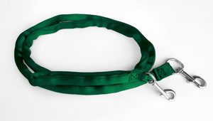Hunter Green-LuvMyLeash,6-10 ft option,Leash Harness-Stops Pulling ,6oz.,Padded,2 Snaps,8 in 1 ,U.S.A.