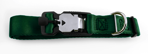 Magnetic Locking Dog Safety Collar - Hunter Green