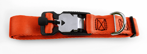 Magnetic Locking Dog Safety Collar - Orange