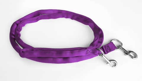 Purple-LuvMyLeash 6-10 ft option Leash Harness Stops Pulling  6oz. Padded 2 Snaps 8 in 1 ,U.S.A.