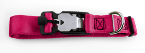 Magnetic Locking Dog Safety Collar - Raspberry (Pink)