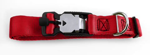 Magnetic Locking Dog Safety Collar - Red