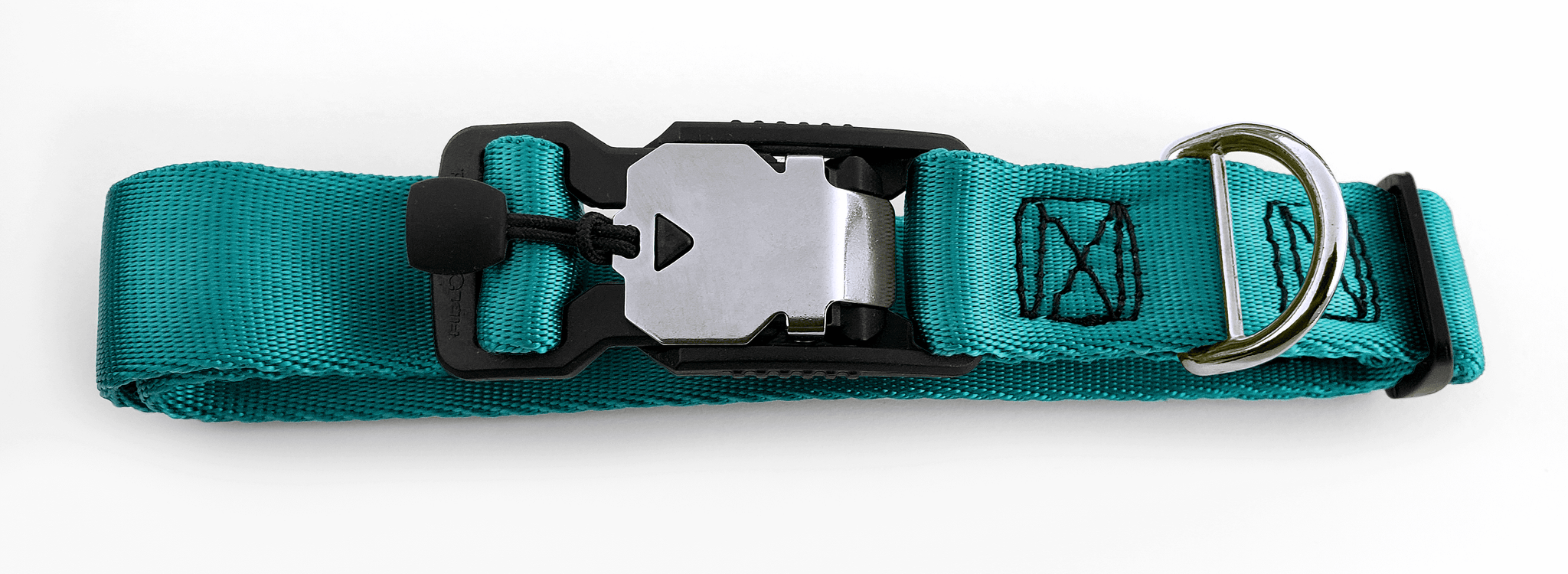 Magnetic Locking Dog Safety Collar - Teal