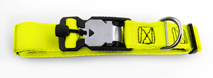 Magnetic Locking Dog Safety Collar - Yellow
