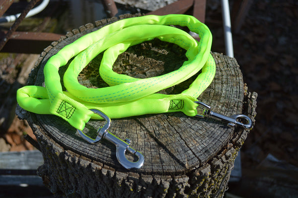 Luv My Leash- 6-10ft FT Leash Harness -Stops Pulling ,Lightweight,Padded,Dual Snap, 8 Leashes in 1 ,Made in U.S.A.